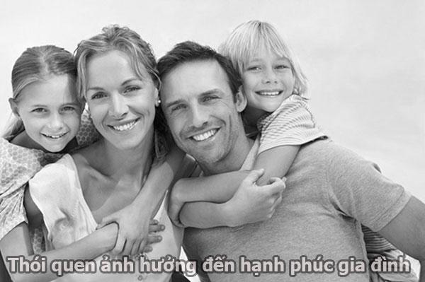 Thói quen xấu ảnh hưởng đến gia đình