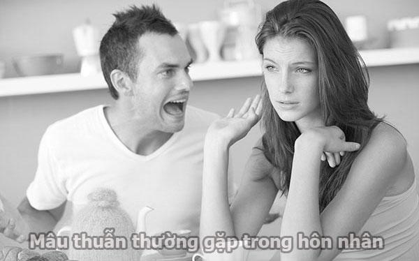 Mâu thuẫn thường gặp hôn nhân